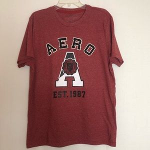 NWOT Red Men's Aeropostale T-shirt Size L